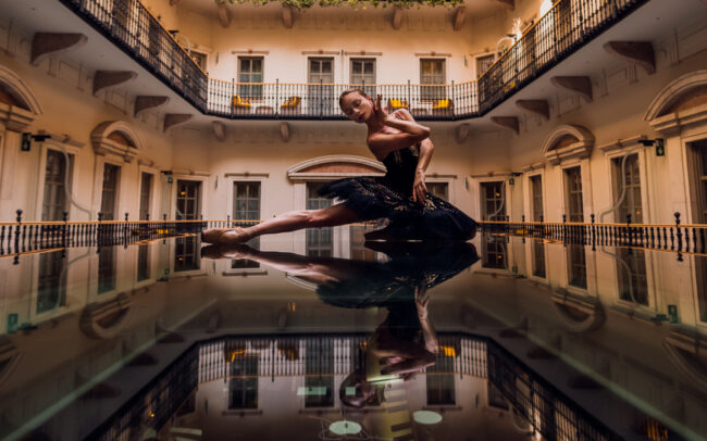 Ellina Pokhodnykh during a photoshoot in Aria Hotel Budapest. Hungarian National Ballet. Magyar Nemzeti Balett. Ballet Photography Budapest