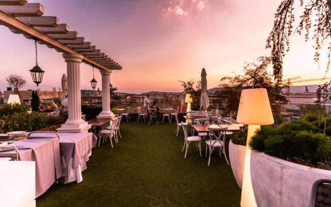 Mystery Hotel Budapest, skybar, terrace, soir, evening atmosphere, photos by raulduranphoto, Raul Duran